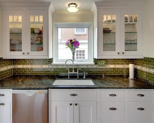 Inspiration For A Timeless Kitchen Remodel In Dc Metro With Glass Front Cabinets White