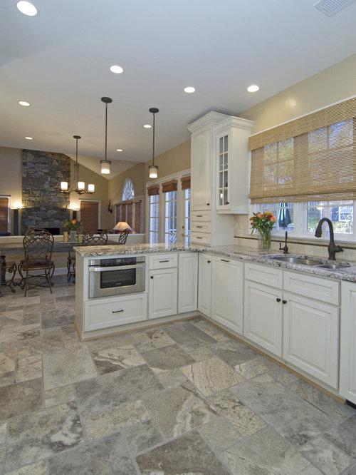 136681 16X24 Ceramic Floor Tile Kitchen Design Ideas Remodel – White Kitchen Cabinets with Tile Floor