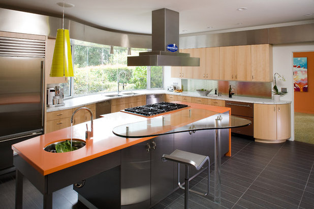 Eclectic Kitchen by MN Builders