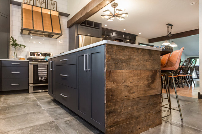 Industrial Kitchen by New England Design Elements
