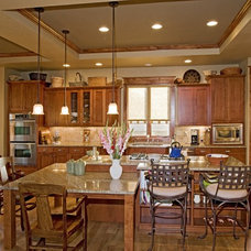 Craftsman Kitchen by Erin Johnson Interiors, LLC