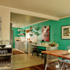 Beach Style Kitchen by Garrison Hullinger Interior Design Inc.