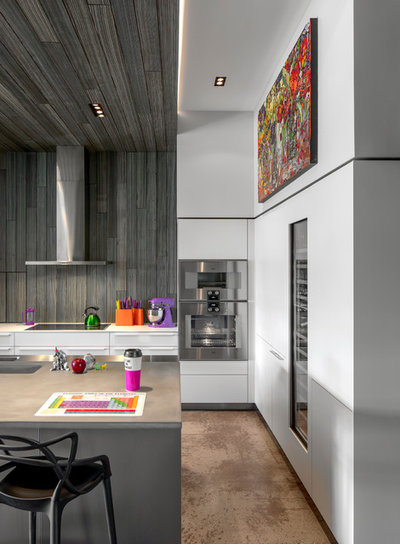 Contemporary Kitchen by R.J. Gurley Construction