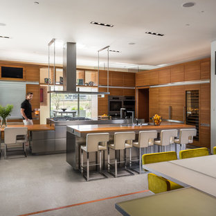 Large Contemporary Eat In Kitchen Designs Inspiration For A