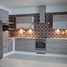 Contemporary Kitchen by Encaustic Mosaic Tiles