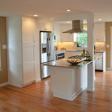 Transitional Kitchen by RJK Construction Inc