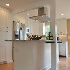 Transitional Kitchen by RJK Construction Inc