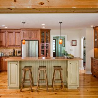 Pine Floor Kitchen Houzz