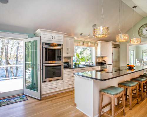 Beach Style Enclosed Kitchen Inspiration