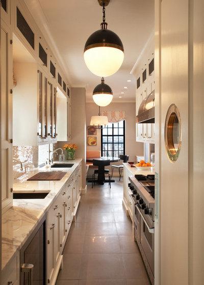 Transitional Kitchen by David Scott Interiors