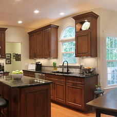 traditional kitchen by NVS Remodeling & Design
