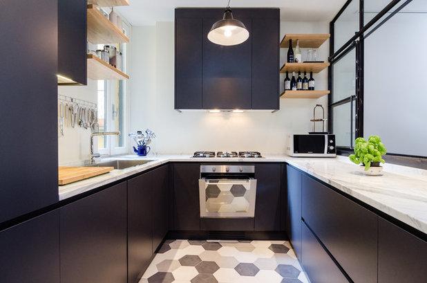 Cucina bianca e nera un classico da tenere sempre a mente