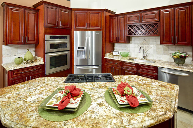 Traditional Kitchen by Cabinets & Granite Direct