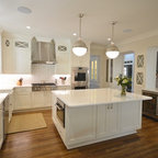 Reclaimed White Pine Kitchen Island Counter Transitional