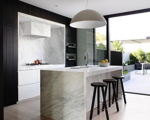 galley kitchens with stainless steel appliances black white grey kitchen houzz