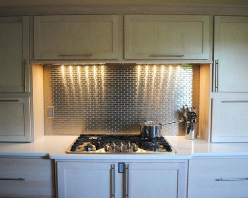 Contemporary Kitchen Remodel With Champagne Stain Maple
