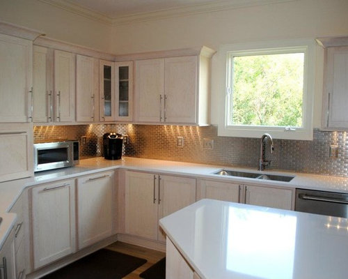 Contemporary Kitchen Remodel with Champagne Stain Maple ...