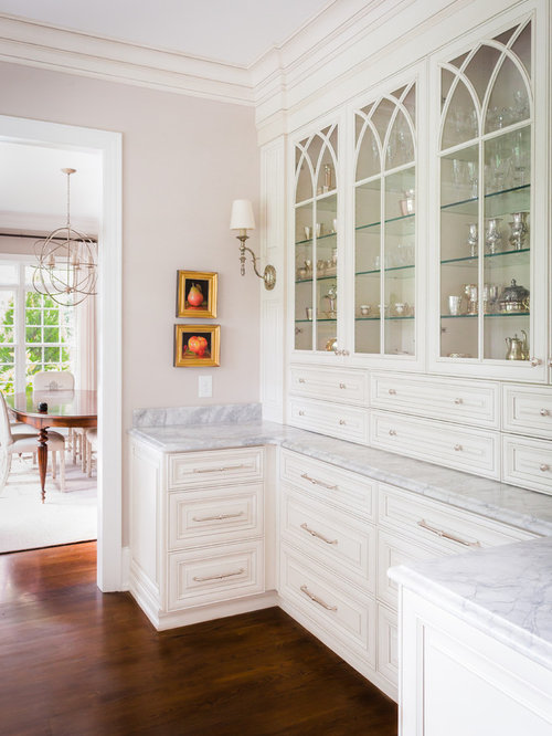 Inspiration For A Timeless Kitchen Remodel In Raleigh With Glass Front  Cabinets And White Cabinets