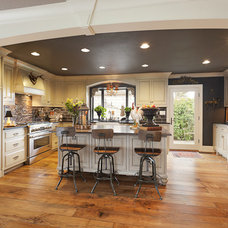 Eclectic Kitchen by R.S. Stapleton Company - Custom Cabinetry