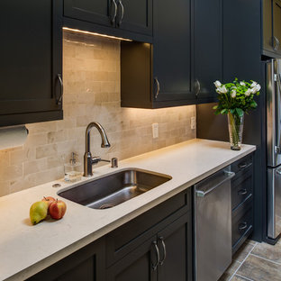 Charcoal Galley Kitchen- Designed By Jane Regan