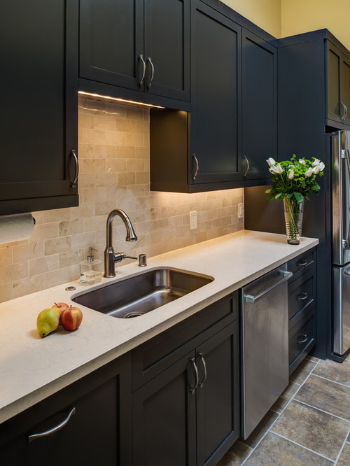132 Modern Kitchen Pantry With Gray Cabinets Design Ideas Remodel Pictures Houzz