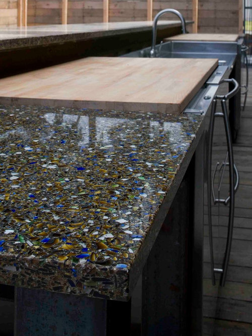 Countertop Dishwasher Reviews Uk : 20 Black Kitchen with Recycled Glass Countertops Design Ideas ...