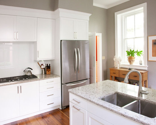 Grey Kitchen Walls light gray kitchen walls | houzz