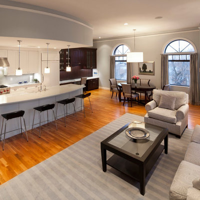 Inspiration for a timeless open concept kitchen remodel in Boston