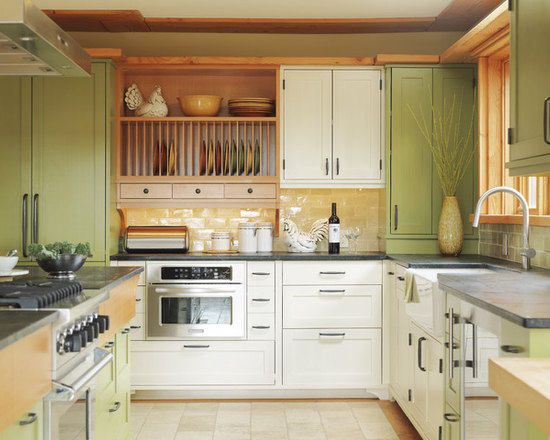 Lovely Mismatched Cabinets