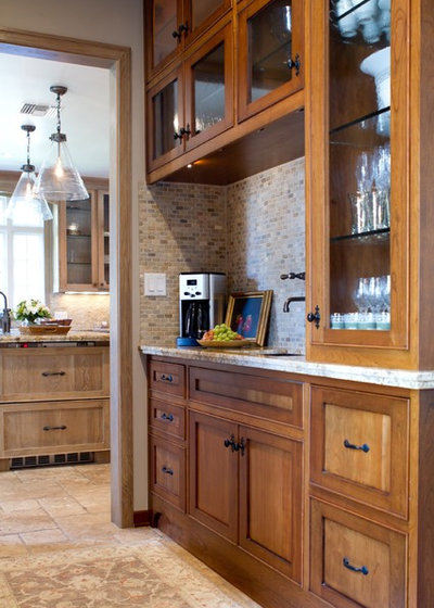 American Traditional Kitchen by Charmean Neithart Interiors