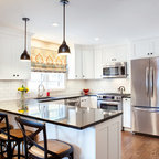 Appliance Garage/Beadboard/Recycling Bins/Antique Glazed Cabinets - Traditional - Kitchen - los ...
