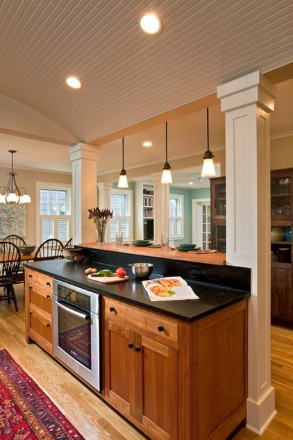 Eclectic Kitchen by Teakwood Builders, Inc.