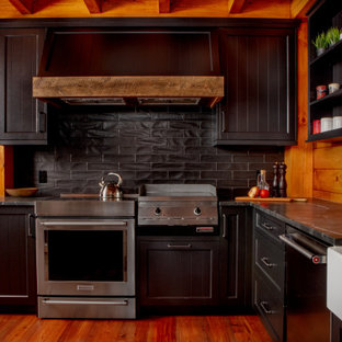 Charming Rustic Industrial Cottage Kitchen