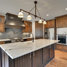 Rustic Kitchen by Mark D. Williams Custom Homes Inc