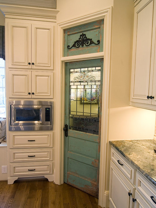 Inspiration for a timeless kitchen remodel in Other - Antique Pantry Door Houzz