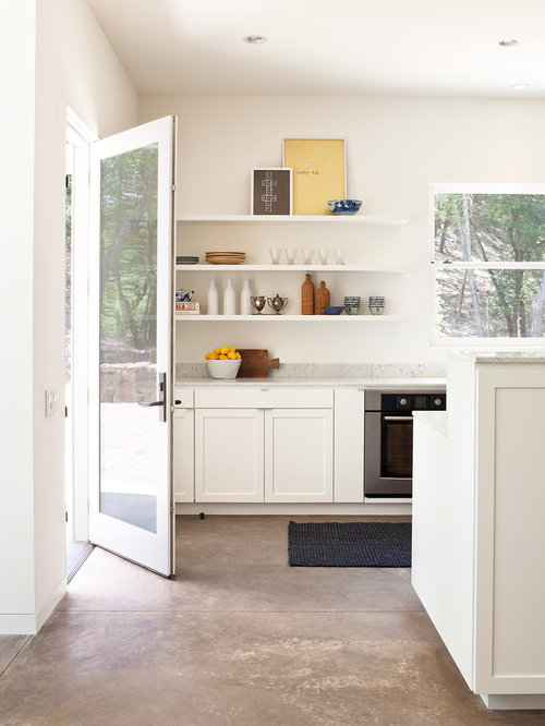 Example Of A Country Kitchen Design In San Francisco With Shaker Cabinets,  White Cabinets,