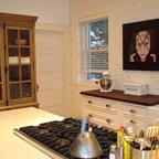 Traditional Kitchen Solarius Slab And Tumbled Travertine