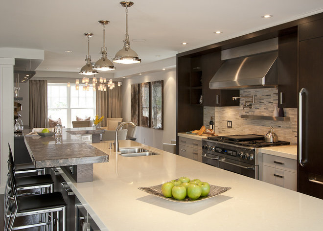 Contemporary Kitchen by Leslie Goodwin Photography
