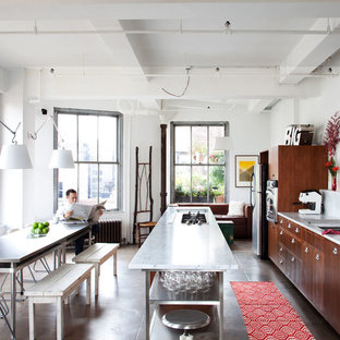 Stainless Steel Dining Table Houzz - Industrial kitchen table stainless steel
