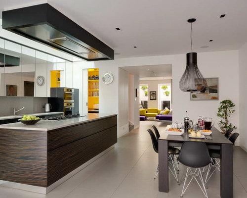 mirror kitchen cabinet | houzz
