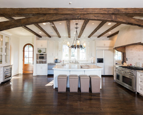 Arched beams houzz for Traditional kitchen meaning
