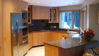 Cherry Cabinetry Quartz Tops, Multiple work spaces