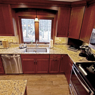 Cherry Cabinets with Quartz Countertop ~ Strongsville, OH #1