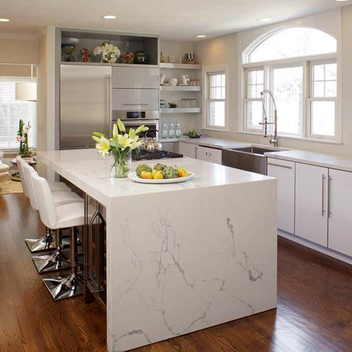 Denver White Contemporary kitchen remodel
