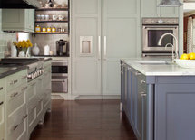 Great kitchen!  What is countertop material next to stove?