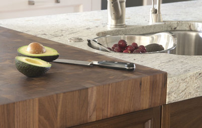 Kitchen Counters: Try an Integrated Cutting Board for Easy Food Prep