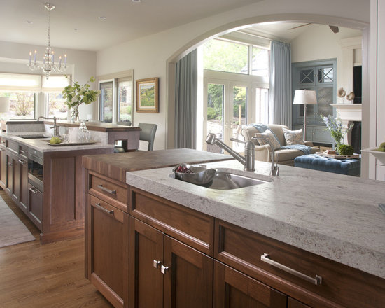 two different granite countertops | houzz