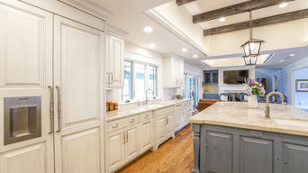 Cherry Hills Kitchen remodel with gorgeous blue accents