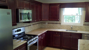 Cherry Kitchen Cabinets  | Cherry Glaze Door Style  |  Kitchen Cabinet Kings