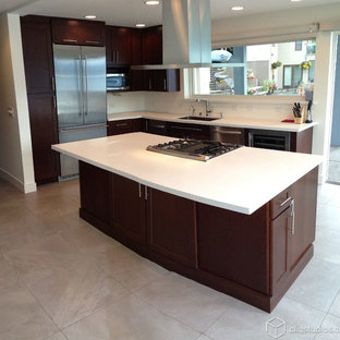 Modern Cherry Kitchen Cabinets | Houzz